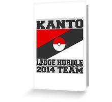 Kanto Ledge Hurdling Team Greeting Card