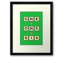 Scrabble Math Framed Print