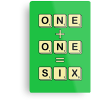 Scrabble Math Metal Print