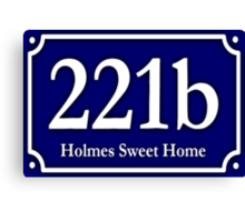 221b - Holmes Sweet Home Canvas Print