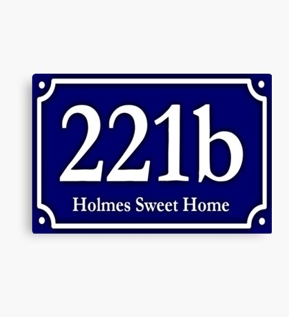 221b - Holmes Sweet Home Canvas Print