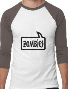 ZOMBIES SPEECH BUBBLE by Zombie Ghetto Men's Baseball ¾ T-Shirt