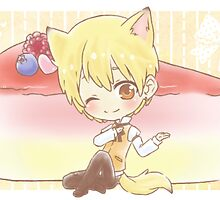 Wolf Kise and Cheesecake by TEAMJUSTICEink