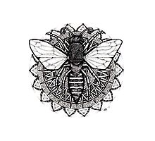 Mandala Bee Photographic Print