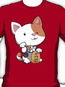 Cute Maneki Neko Beckoning Cat T-Shirt