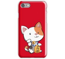 Cute Maneki Neko Beckoning Cat iPhone Case/Skin