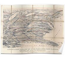 Civil War Maps 1704 Stannard Dixon's birds eye view of the north south states of America shewing the seat of revolution projected from the ordnance surveys of the United States Poster