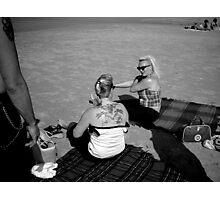 Terschelling Beach 50s Style Memories Photographic Print