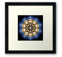 Digital Circle Kaleidoscope 001 Framed Print
