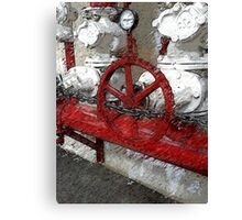 Fire Suppression System Canvas Print