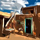 Taos Pueblo Abstract by Diana Graves Photography