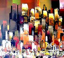 Mega City Abstract New York by Eraclis Aristidou