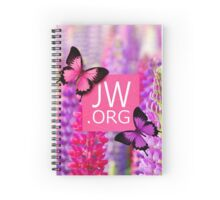 JW.ORG (Purple Flowers and Butterflies) Spiral Notebook