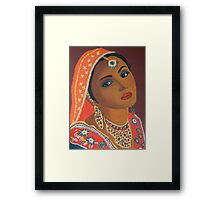 Indian Bride in Orange Framed Print