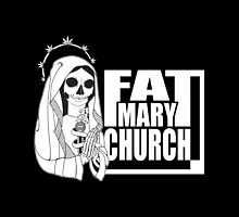 Fat Mary Church (W/B) - tablet cases by rootsofriot