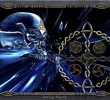 Celtic glass skull  by Bluesax