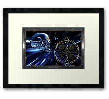 Celtic glass skull  Framed Print