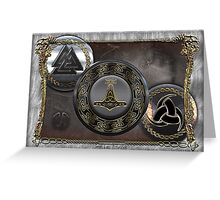 Vikings Shields  Greeting Card