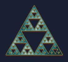 Sierpinski, Triangle, Mathematics, Fractal, Math, Geometry Kids Tee