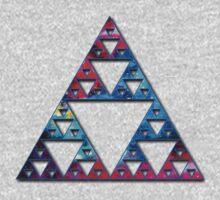 Sierpinski, Triangle, Mathematics, Fractal, Math, Geometry One Piece - Long Sleeve