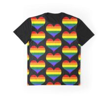 gay heart - gay, love, csd, rainbow, lesbian, pride Graphic T-Shirt