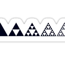 Sierpinski, Triangle, Mathematics, Fractal, Math, Geometry Sticker