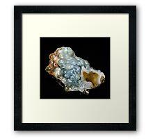 Botryoidal Agate in Blue Framed Print