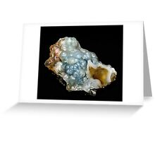 Botryoidal Agate in Blue Greeting Card
