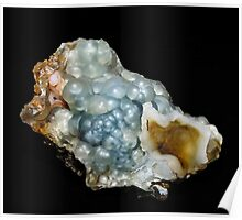 Botryoidal Agate in Blue Poster