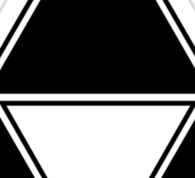 Triforce - Ancient Magical Symbol, Sierpinski Triangle Sticker