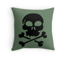 SKULL AND CROSSBONES by Zombie Ghetto Throw Pillow
