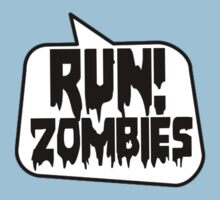 RUN! ZOMBIES SPEECH BUBBLE by Zombie Ghetto Kids Tee