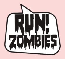 RUN! ZOMBIES SPEECH BUBBLE by Zombie Ghetto One Piece - Long Sleeve