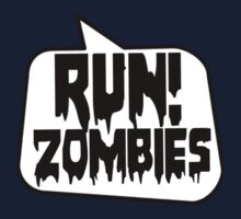 RUN! ZOMBIES SPEECH BUBBLE by Zombie Ghetto One Piece - Long Sleeve