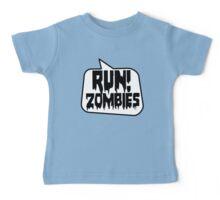 RUN! ZOMBIES SPEECH BUBBLE by Zombie Ghetto Baby Tee