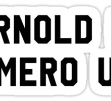 Arnold is Numero Uno Sticker