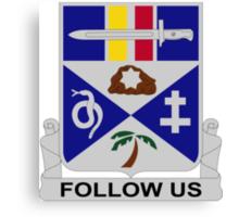 293rd Infantry Regiment - Follow Us Canvas Print