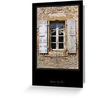 Window - Rennes le Chateau Greeting Card