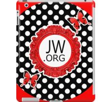 JW.ORG (Retro Red and Butterflies) iPad Case/Skin
