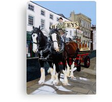 Draught and Dray Canvas Print