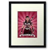 Lady Sif Framed Print