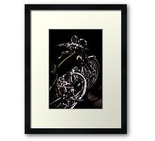 Vincent Black Shadow Engine Framed Print