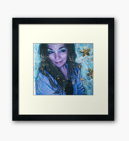 the crystal visions . . .  Framed Print
