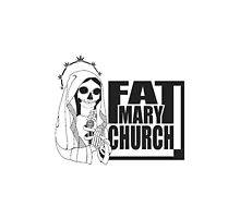 Fat Mary Church (white) phone cases by rootsofriot
