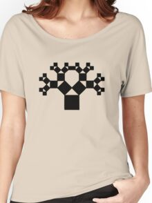 Pythagoras Tree Fractal, Patterns Of Creation, Mathematics, Geometic Women's Relaxed Fit T-Shirt