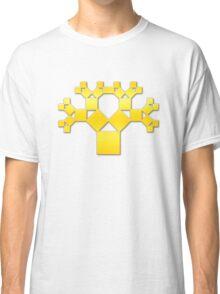 Pythagoras Tree Fractal, Patterns Of Creation, Mathematics, Geometic Classic T-Shirt