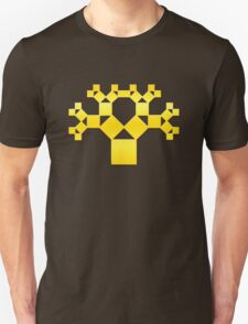 Pythagoras Tree Fractal, Patterns Of Creation, Mathematics, Geometic T-Shirt