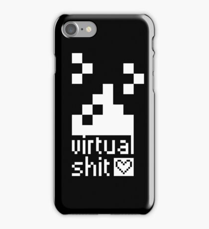 we ♥ virtual s*hit (black) - phone cases iPhone Case/Skin