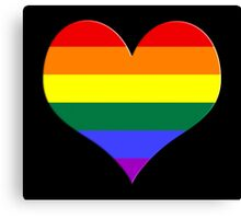 gay heart - gay, love, csd, rainbow, lesbian, pride Canvas Print