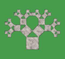 Pythagoras Tree Fractal, Patterns Of Creation, Mathematics, Geometic One Piece - Short Sleeve